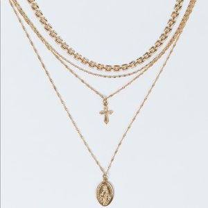 Princess Polly Layered Gold Necklace